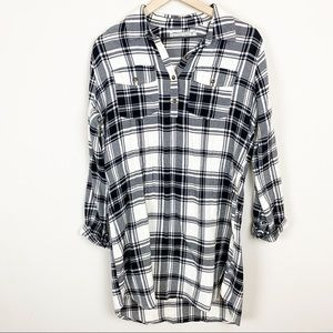 Abercrombie & Fitch High-Low Flannel Dress M